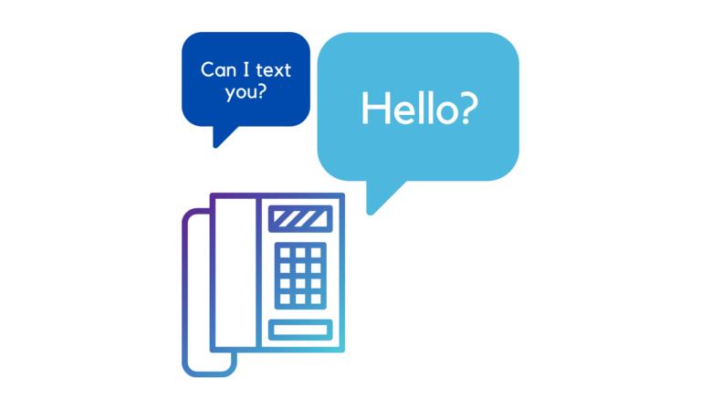 Landline receiving text message