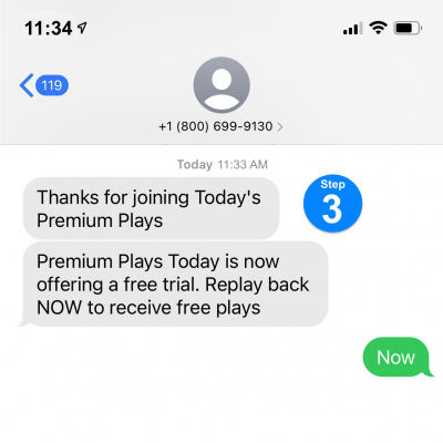 They receive promotional text messages